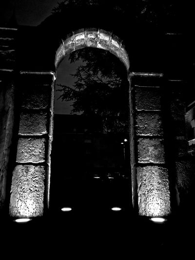 Wall Stone Night Light And Shadow Architecture Arch Black & White No People Perspective