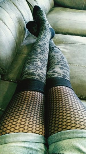 Comfortable Directly Above Fashion Home Human Leg Indoors  Pattern Relaxation Relaxing Tights Stockings Legs Legselfie Goth