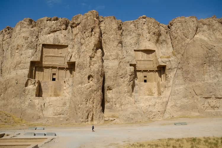 Naqsh-e rustam or rostam, the achaemenid and sassanid era buildings. fars province, iran.