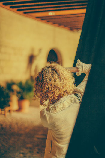 Blonde Blonde Girl Blonde Hair Curiosity Curly Curly Hair Curtain Girl Holding Mallorca Photographer Taking Photo Taking Photos Taking Pictures Women Original Experiences Done That. Connected By Travel 17.62°