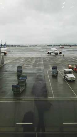 Air Vehicle Airplane Airport Airport Runway Day Gardermoen Land Vehicle Mode Of Transport Nature Nautical Vessel No People Outdoors Planes Rainy Runway Sea Sky Transportation Transportation Water