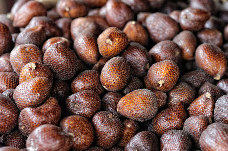 Full Frame Shot Of Snake Fruits