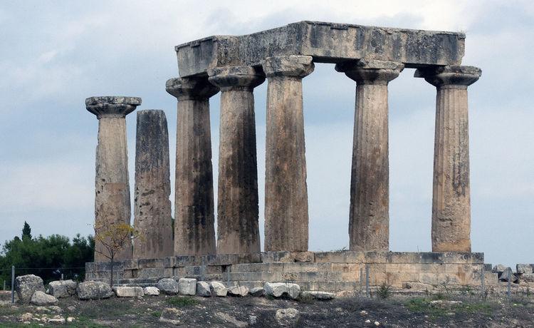 Temple of Apollo Corinth Greece Ancient Ancient Civilization Architectural Column Architecture Column Corinth Corinth Greece Corinthian Culture Famous Place Historic History Monument Old Ruin Ruined Temple Of Apollo The Past Travel Destinations