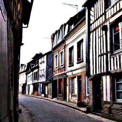 In Honfleur Photooftheday Old Street Honfleur houses