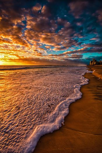 Frothy sunrise