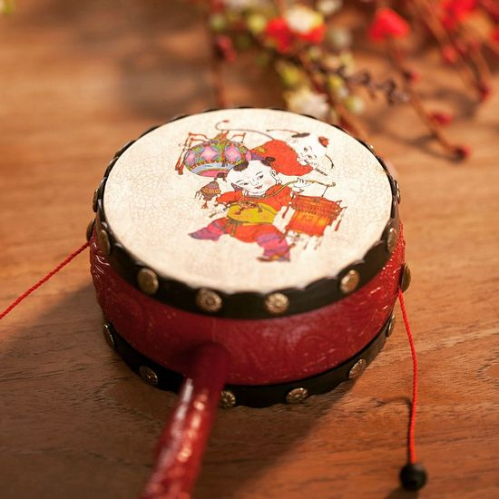 Chinese Traditional Rattle Drum Rattledrum Drum Portabledrum Kiddult Toys Collectible Chinesetoys Chinesetraditional Chinese New Year 2016 Kiddo Chineseflowers First Eyeem Photo