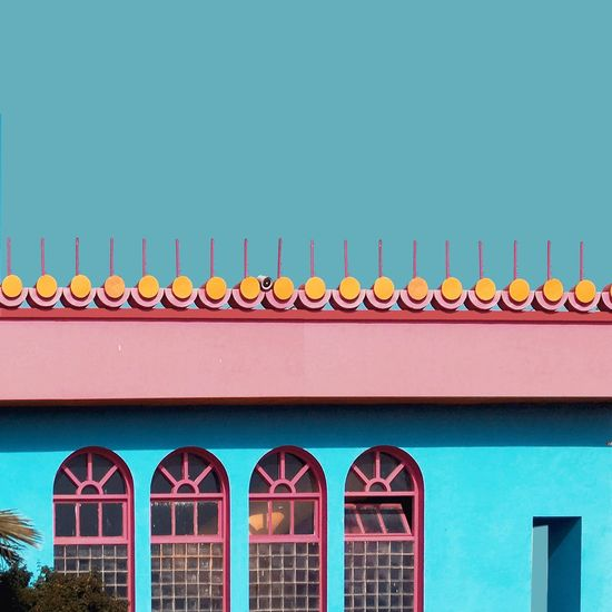 Minimal Minimalism Building Exterior Architecture Built Structure Window Architecture Streetphotography Minimalistic Minimalobsession IPhoneography Colorful Colors Multi Colored Pink Conceptual Design Minimalist Architecture Rainbow EyeEmBestPics Candyminimal Wall - Building Feature Minimalist Photography  Eye4photography  EyeEm Best Edits