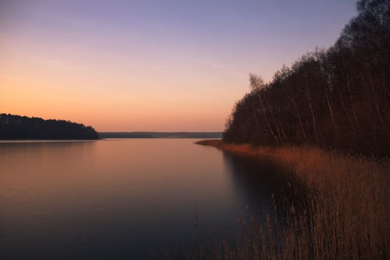 Nature Water Beauty In Nature Sunset Sky Reflection Idyllic No People Outdoors Tree Trees Lake See Sonnenuntergang Winter Gefroren Frozen Lake