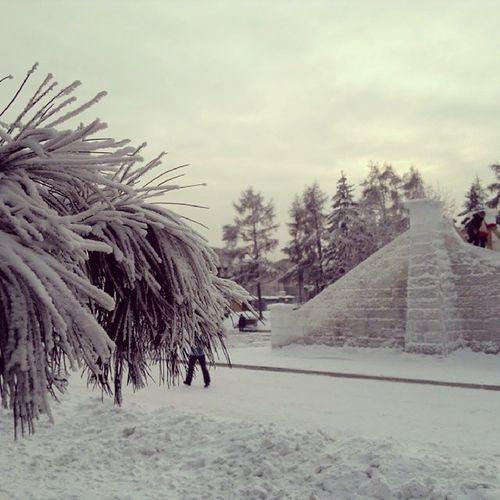 Eine Rutsche Irkutsk Winter Ice