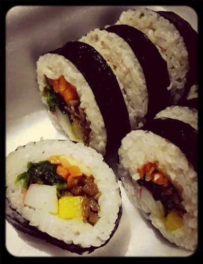 Kimbap korean sushi rolls