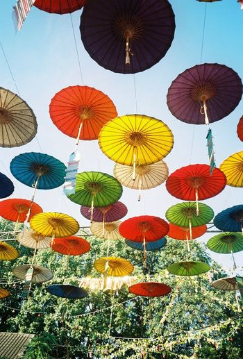 Filmphotography Chiangmai Umbrella Multi Colored No People Variation Pattern