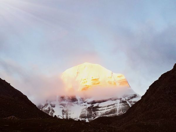 Mountain Cloud - Sky Nature Landscape Outdoors Sky No People Day Beauty In Nature Power In Nature Tibet Travel Mount Kailash