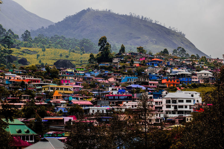 Toy houses in munnar Mountain Mountain Range Travel Outdoors Arts Culture And Entertainment Travel Destinations Ancient Architecture Landscape Sky Nature City No People Day Tree Beauty Munnar Kerala Munnar India Munnar Kerala Teagardens India Idukki Landscapes