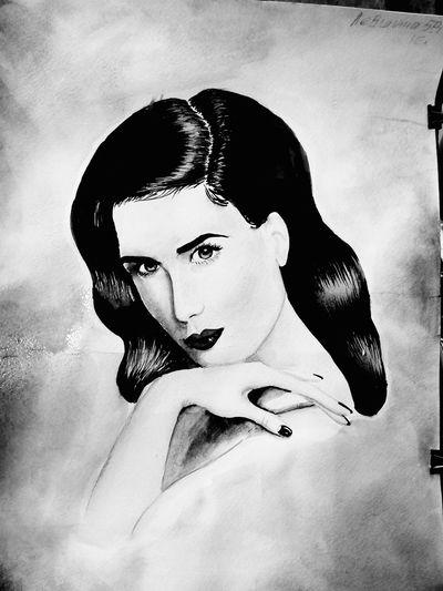 Black & White Graphic People Ditavonteese Akvarell акварель Art