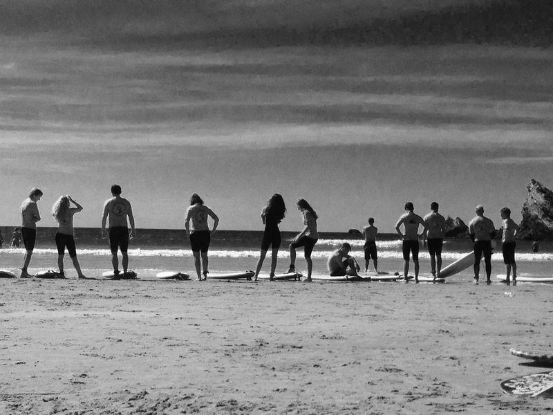 Sea Surfing Landscape Blackandwhite Beach Sunshine Horizon Biarritz Waves Surf