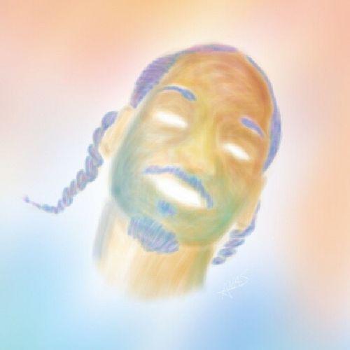 Drawing Rap Artist Snoopdogg face painting sketch digitalart style art colors