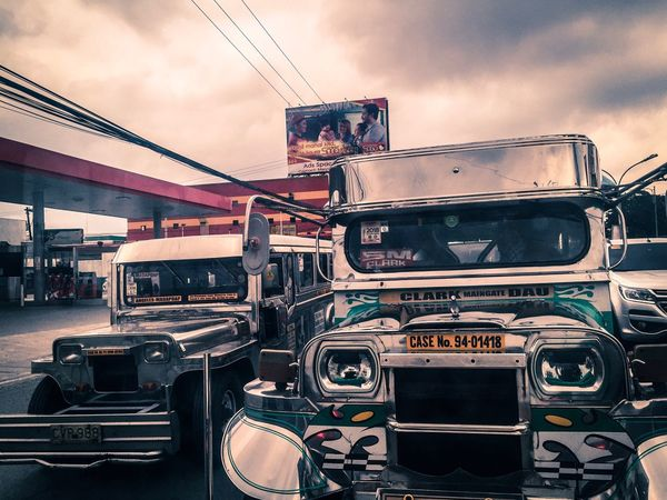 Commute Jeepney Sky Cloud - Sky Nature Day Transportation Motor Vehicle Outdoors Mode Of Transportation Land Vehicle Travel