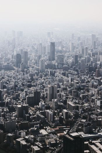 Japan Photography OSAKA Aerial View Architecture Building Building Exterior Built Structure City Cityscape Crowd Crowded Environmental Issues Financial District  Fog High Angle View Landscape Modern Nature Office Building Exterior Outdoors Residential District Sky Skyscraper Smog Urban Skyline The Architect - 2018 EyeEm Awards