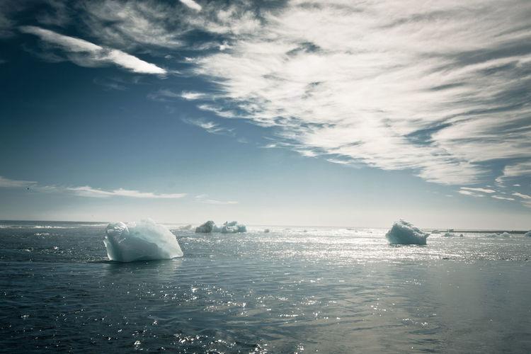 Cloud - Sky Day Glacier Horizon Over Water Iceland Nature No People Ocean Outdoors Scenics Sea Sky Water Jökulsárlón Jökulsárlón Glaciar Lagoon