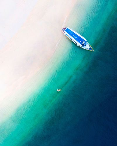 island escape Drone  Dronephotography Dronephotography Droneshot INDONESIA Indonesia_photography Island Islandlife UnderSea Eyesight Nautical Vessel Water Yacht Sailing Sea Sailing Ship Beach Aerial View Jet Boat Motorboat Turquoise Colored Seascape Shore Escape Ship Wake - Water Tide Coast Horizon Over Water Speedboat
