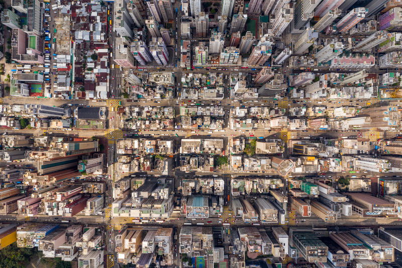 Hong Kong city view High Angle View Architecture Aerial View No People Abundance City Day Travel Destinations Large Group Of Objects Transportation Full Frame Outdoors Building Building Exterior Cityscape Business Container Mode Of Transportation