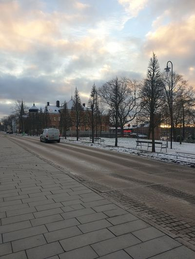 View of street in winter