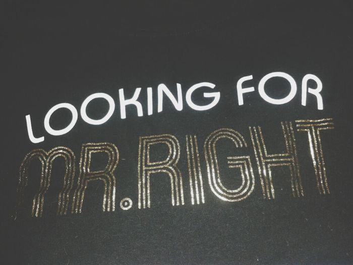 Looking For Mister Right
