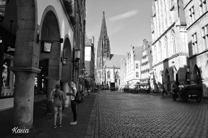 Blackandwhite Germany Deutschland Münster, Architecture Streetphotography_bw Church Monochrome Photography
