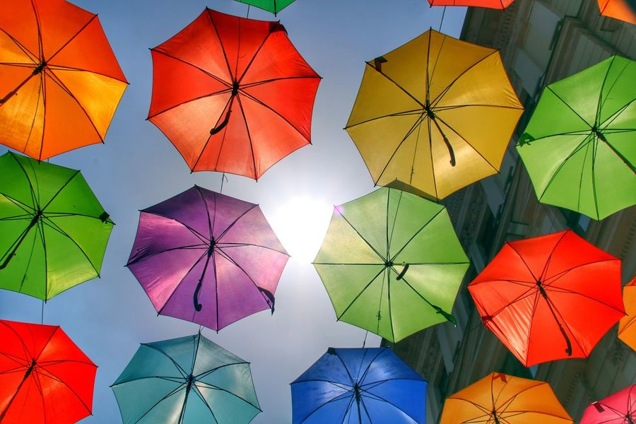 EyeEm Selects Multi Colored City Composition Variation Protection Sky Umbrella