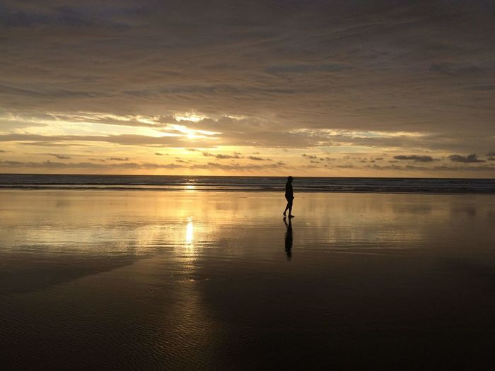 Time to Reflect Silhouette Muriwai Beach Nature On Your Doorstep Naturelover Water Reflection Lifeisbeautiful Nature Nature_collection Nature Photography Water Sportsman Full Length Men Lake Sport Shore Tide