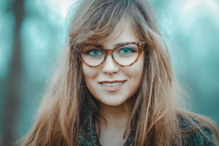 Katarina Adult Adults Only Beautiful Woman Beauty Blond Hair Close-up Day Eyeglasses  Focus On Foreground Front View Headshot Human Face Long Hair Looking At Camera One Person One Woman Only One Young Woman Only Outdoors People Photography Portrait Real People Smiling Young Adult Young Women
