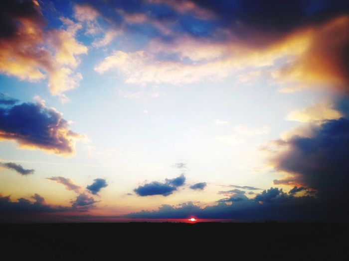 Sunset Sky Clouds And Sky Cloudscape Panoramic Nature Go Higher Inner Power