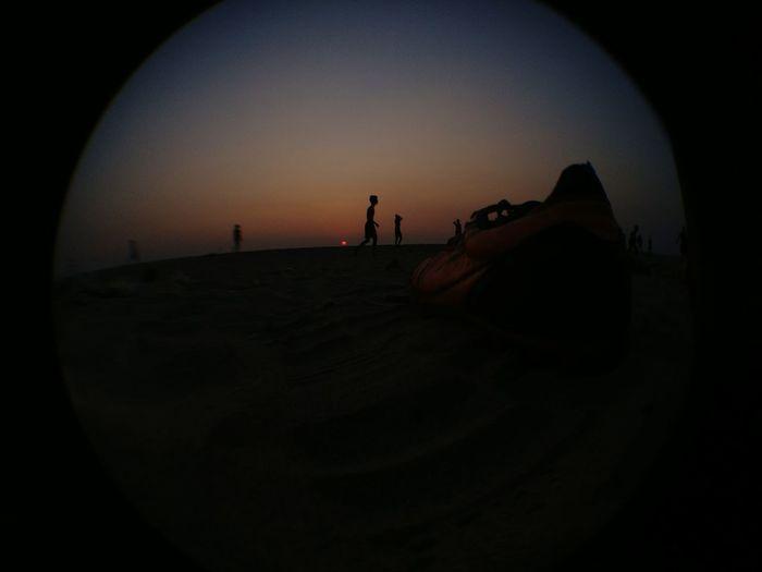 sunset#sea#footb