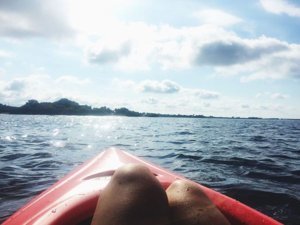 TwentySomething Kayaker Sweet Freedom Soul Breather Work Break Play Time Wildlife Followed A Manatee