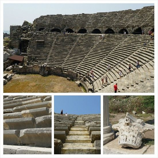 турция сиде амфитеатр архитектура turkey side theater amphtheater gladiator travel