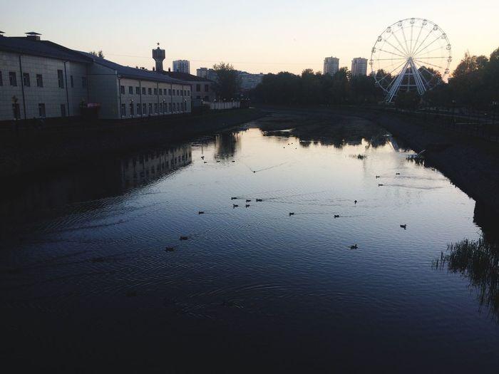 Иваново, закат🥰 #вечер #закат #утки #вода #Иваново First Eyeem Photo
