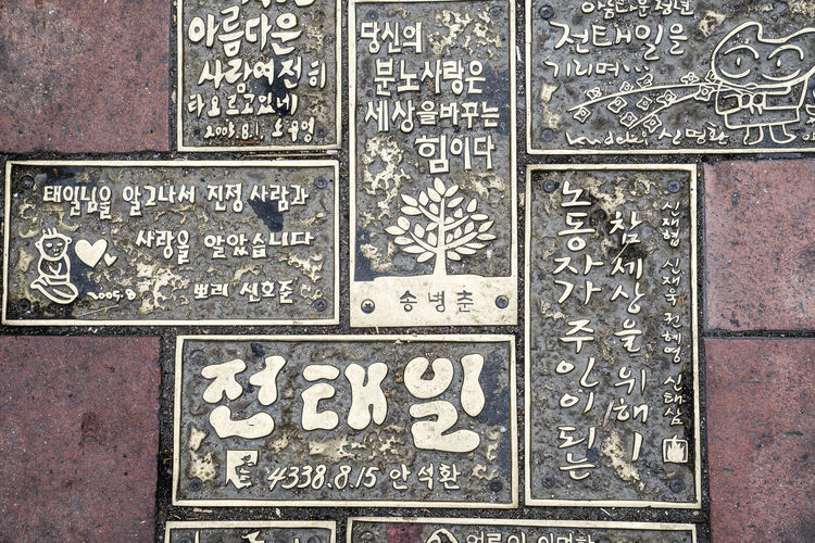 Text No People Full Frame Communication Backgrounds Architecture Pattern Close-up Western Script Metal Craft Script Carving - Craft Product Non-western Script Built Structure Old The Past History Wall - Building Feature Number