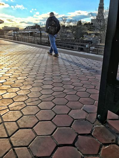The City Light City Life Metro Station Brickwork  Lone Man Fall