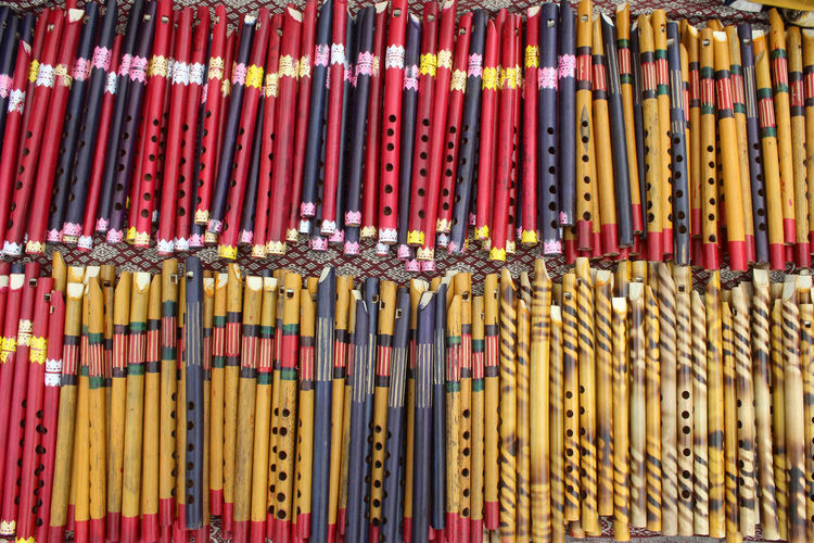 Large Group Of Objects No People Full Frame In A Row Order Multi Colored Backgrounds Abundance Day Close-up Variation Choice Architecture Yellow Side By Side Retail  Arrangement Market Musical Instrument Outdoors Flute