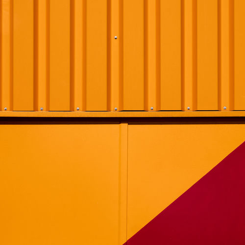 Orangething Fujix_berlin Ralfpollack_fotografie Minimalism Minimalist Photography  Architecture Built Structure Wall - Building Feature Pattern Backgrounds Orange Color No People Full Frame In A Row Close-up Closed Side By Side Day Order Abstract