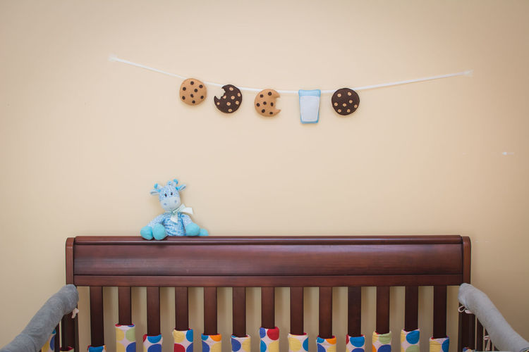 Cookies and Milk Garland in Nursery Chocolate Chip Cookie Chocolate Chip Cookies Garland Giraffe Milk And Cookies Nursery Plushie Take A Bite Wall Decoration Baby Room  Beauty In Nature Blue Brown Craft Food Hand Made Indoors  Kids Room Milk No People Toy White Background Yummy