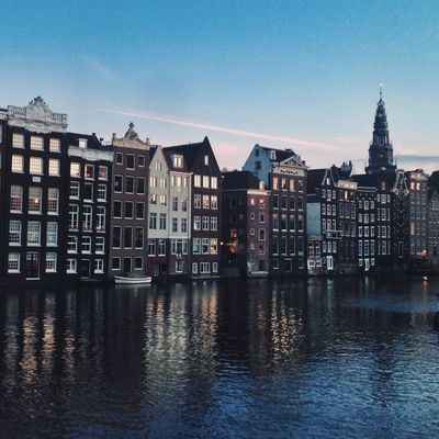 Amsterdam By Night Amsterdam Skyline Architecture City City Life Façade Residential Building Residential District Residential Structure Waterfront Waterfrontview