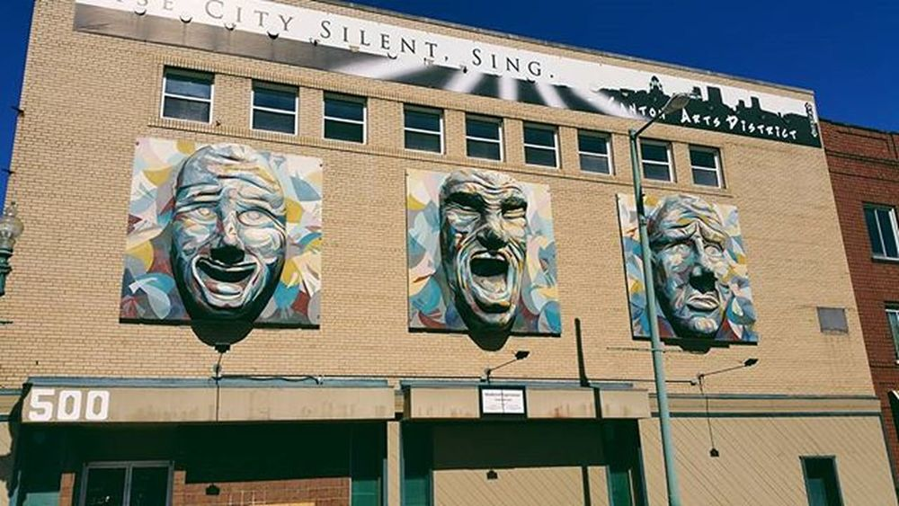 Three Faces Canton Ohio Downtown Artsdistrict Arts Faces 3D 3Dimensional