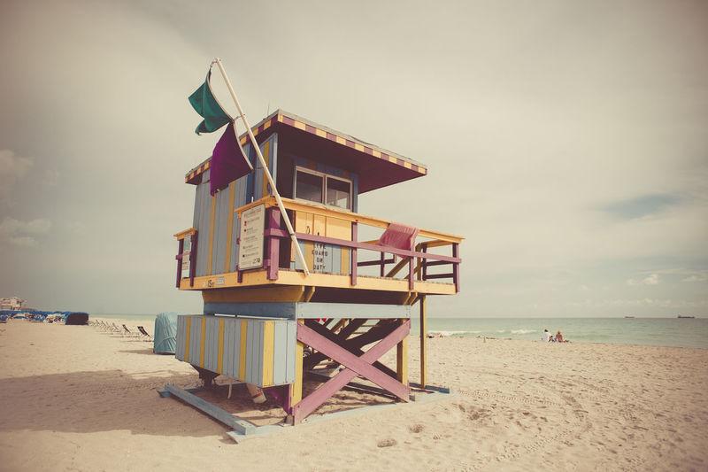 Lifeguard hut on beach