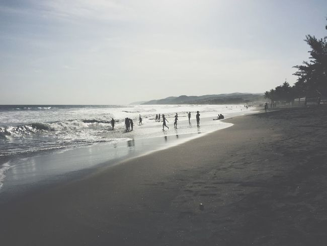 El Salvador Swimming Surfing Sunshine Enjoying The Sun Monochrome Light And Shadow