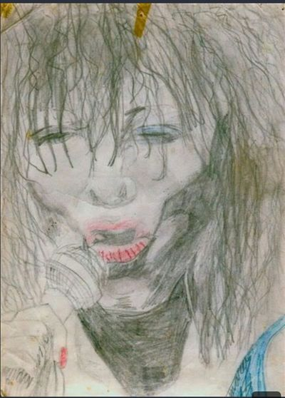 Tina Turner My Old Drawing Childhood Drawings Super Star