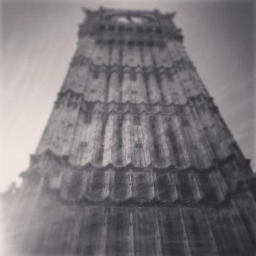 London Elizabethtower Imissyou Blackandwhite Clocktower B&W Portrait Shades Of Grey