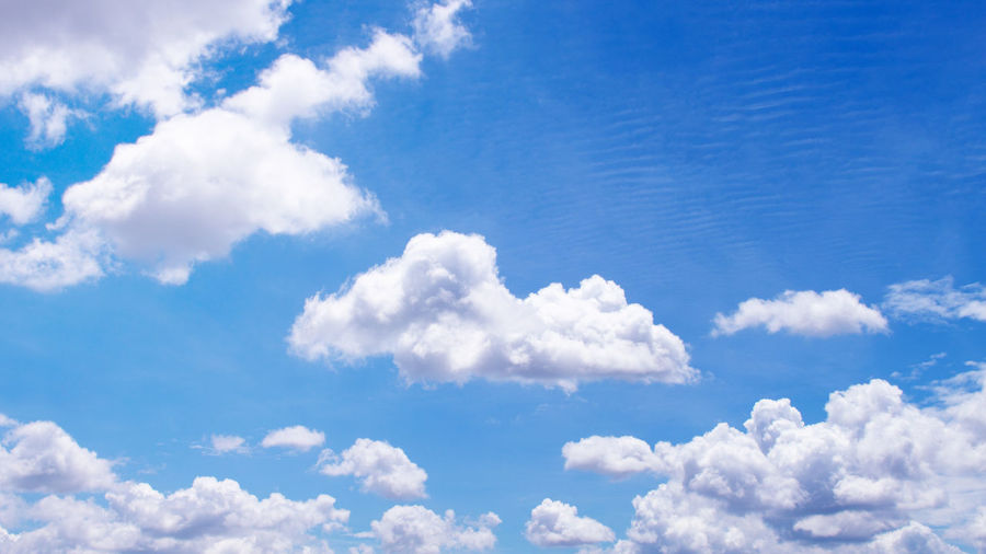 Low angle view of clouds in blue sky
