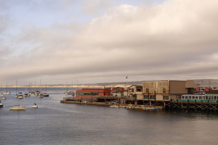 Boat Cloud Cloud - Sky Cloudy Fishermans Wharf Harbor Mode Of Transport Monterey Nature Nautical Vessel Overcast Sky Water Waterfront Weather