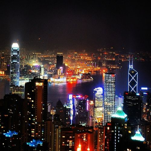 山頂  夜景  香港 Thepeak HongKong
